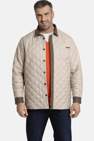 outdooroverhemd DUKE FREDERIK Plus Size bruin