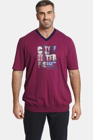 T-shirt EARL MEGAT Plus Size met printopdruk roze