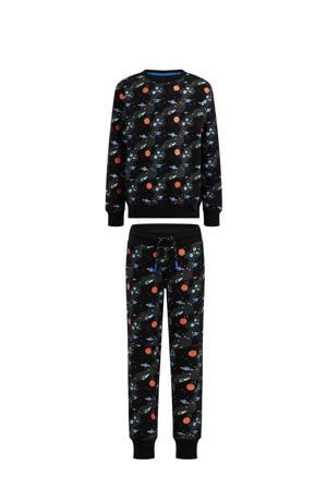 sweater + sweatpants zwart multi
