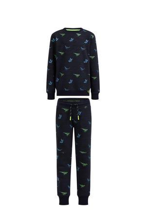 sweater + sweatpants donkerblauw multi