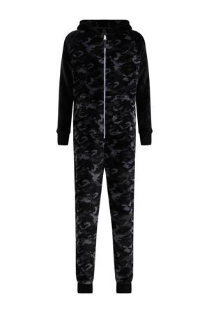 regular fit onesie van fleece zwart