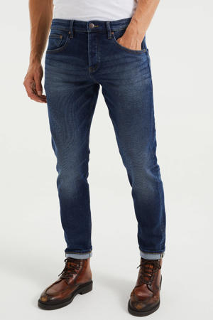 tapered fit jeans used denim