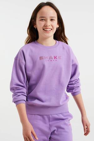 sweater met tekst paars