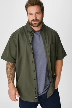 overhemd + T-shirt groen