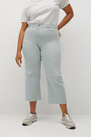 high waist straight fit jeans Florence lichtblauw