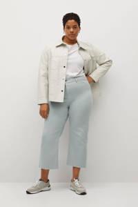 Violeta by Mango high waist straight fit jeans Florence lichtblauw, Lichtblauw