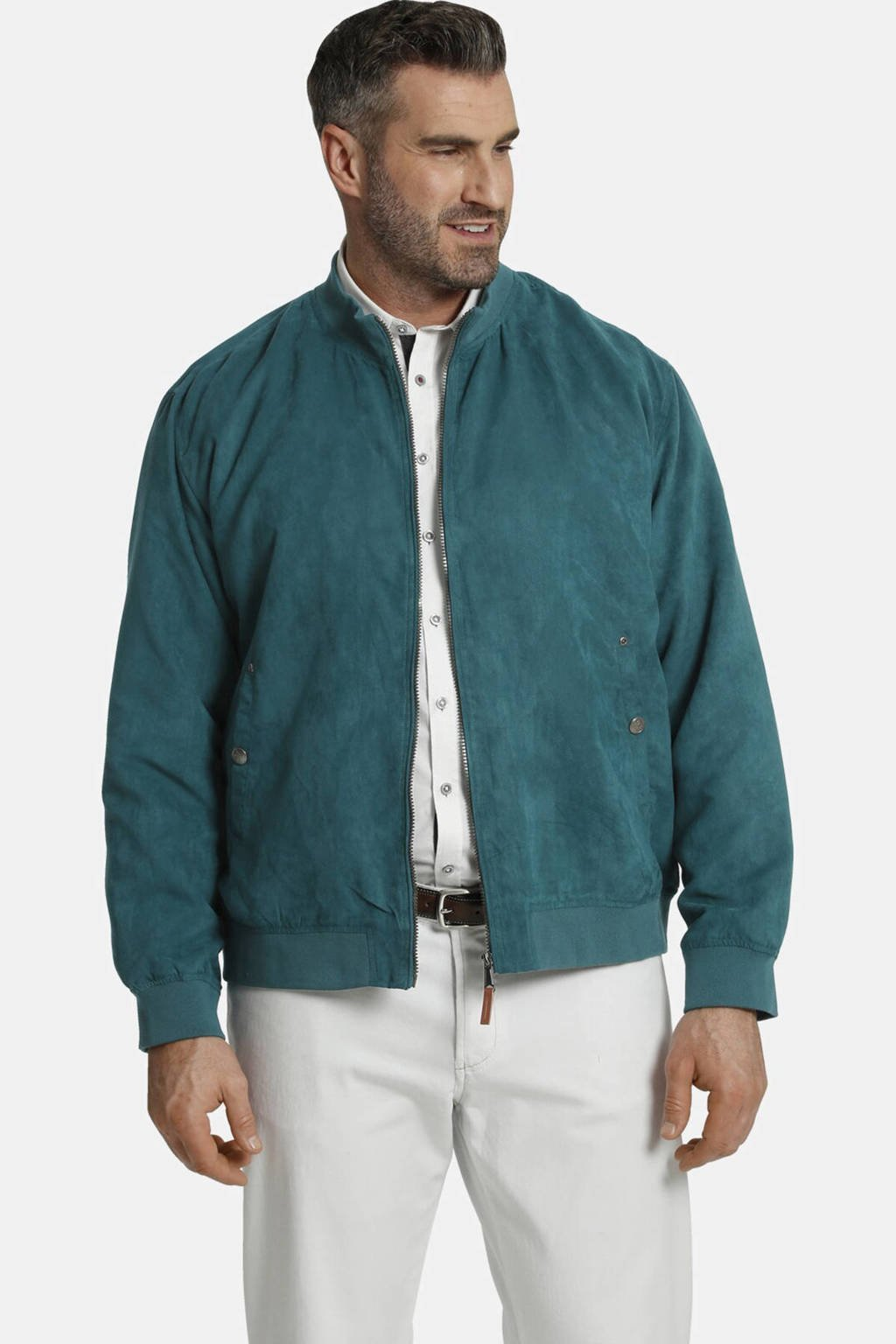 Charles Colby jack zomer SIR BAXTER Plus Size groen, Groen