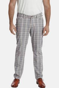 Charles Colby geruite loose fit broek BARON SELWINN Plus Size beige, Beige