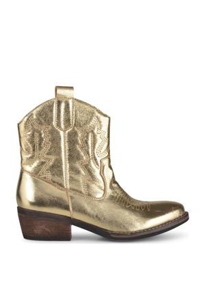 Bila  leren cowboylaarzen goud