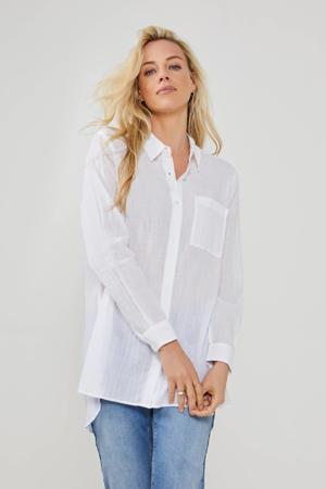 luchtige katoenen blouse wit