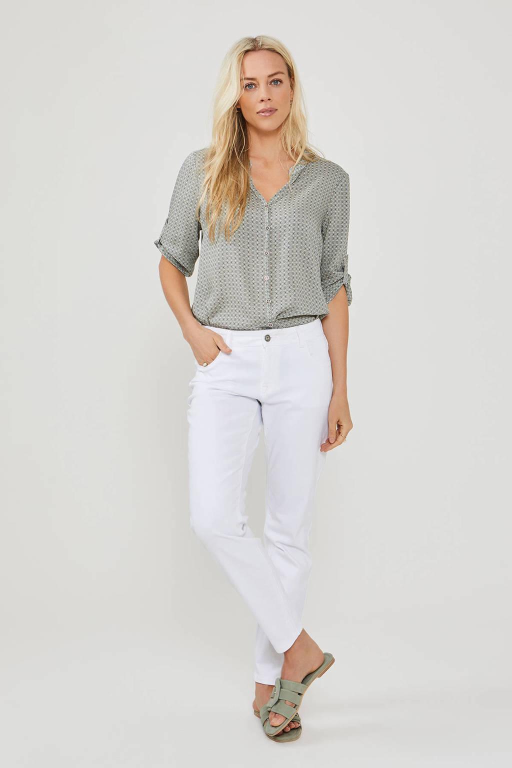 Didi slim fit jeans wit, Wit