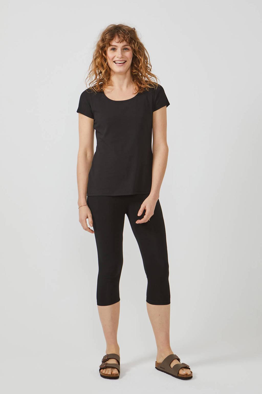 Didi T-shirt ronde hals zwart, Zwart