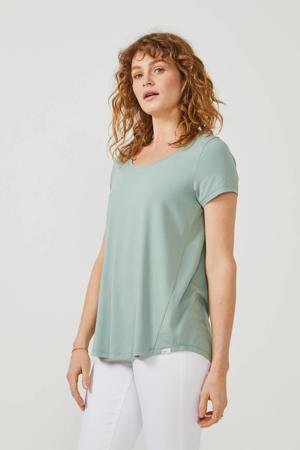 T-shirt loose fit mintgroen