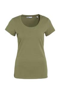 Didi T-shirt ronde hals olijfgroen, Olijfgroen