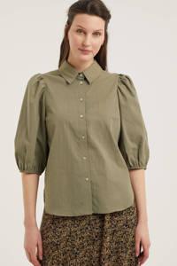 Aaiko blouse PIEN olijfgroen, Olijfgroen