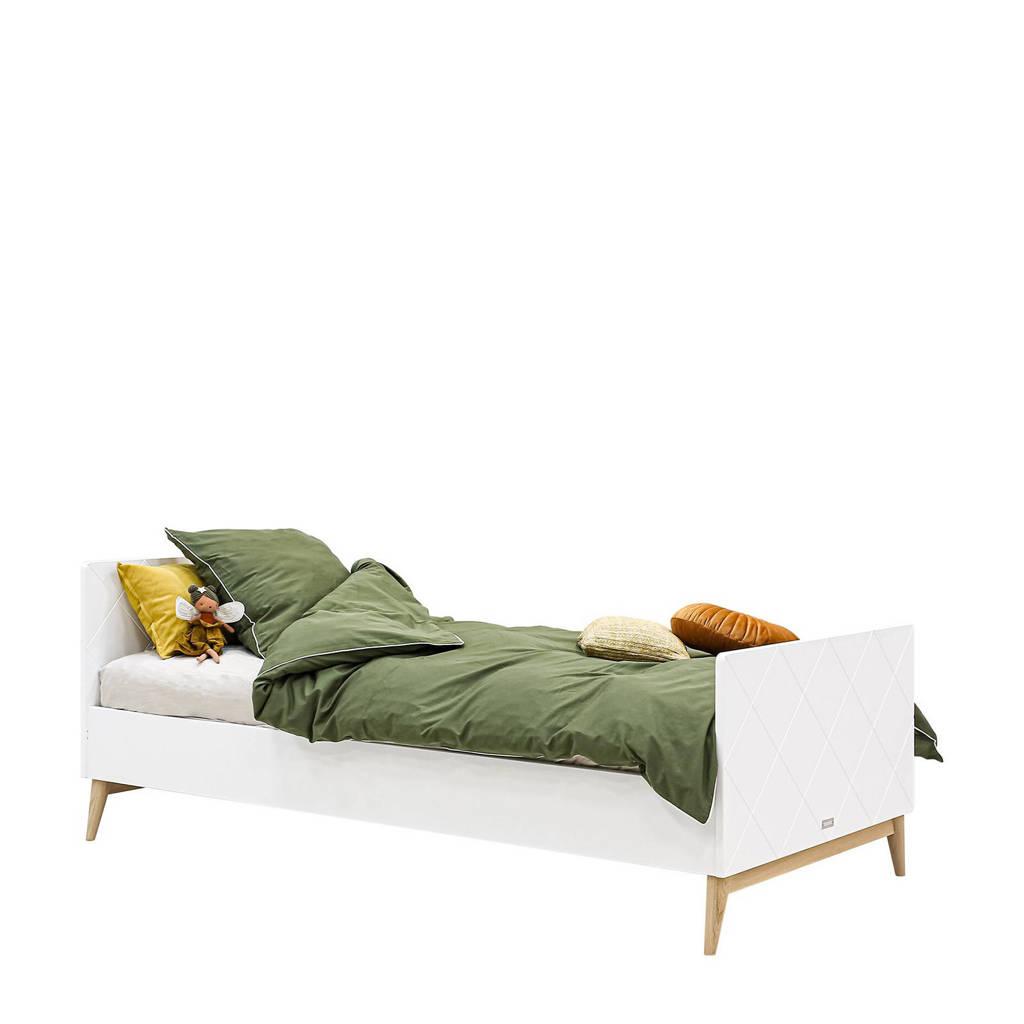 Bopita bed Wit/Eiken Paris (90x200 cm), wit/eiken