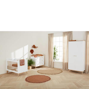 3-delige babykamer Paris wit/eiken Paris