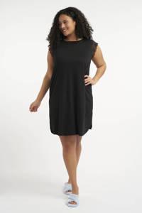 MS Mode nachthemd zwart, Zwart