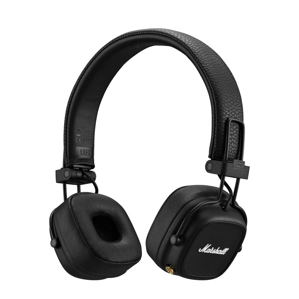 Marshall Major IV Bluetooth on-ear draadloze hoofdtelefoon (zwart), Zwart