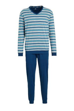 pyjama met strepen blauw