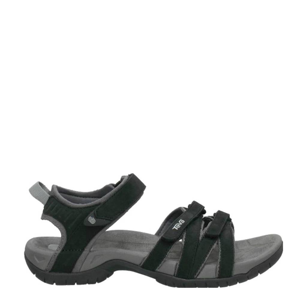 Teva Tirra Leather sandalen zwart, Zwart