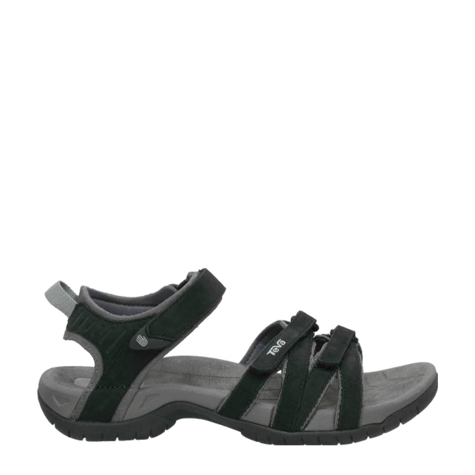 Teva Tirra Leather Sandaal Dames Zwart online kopen