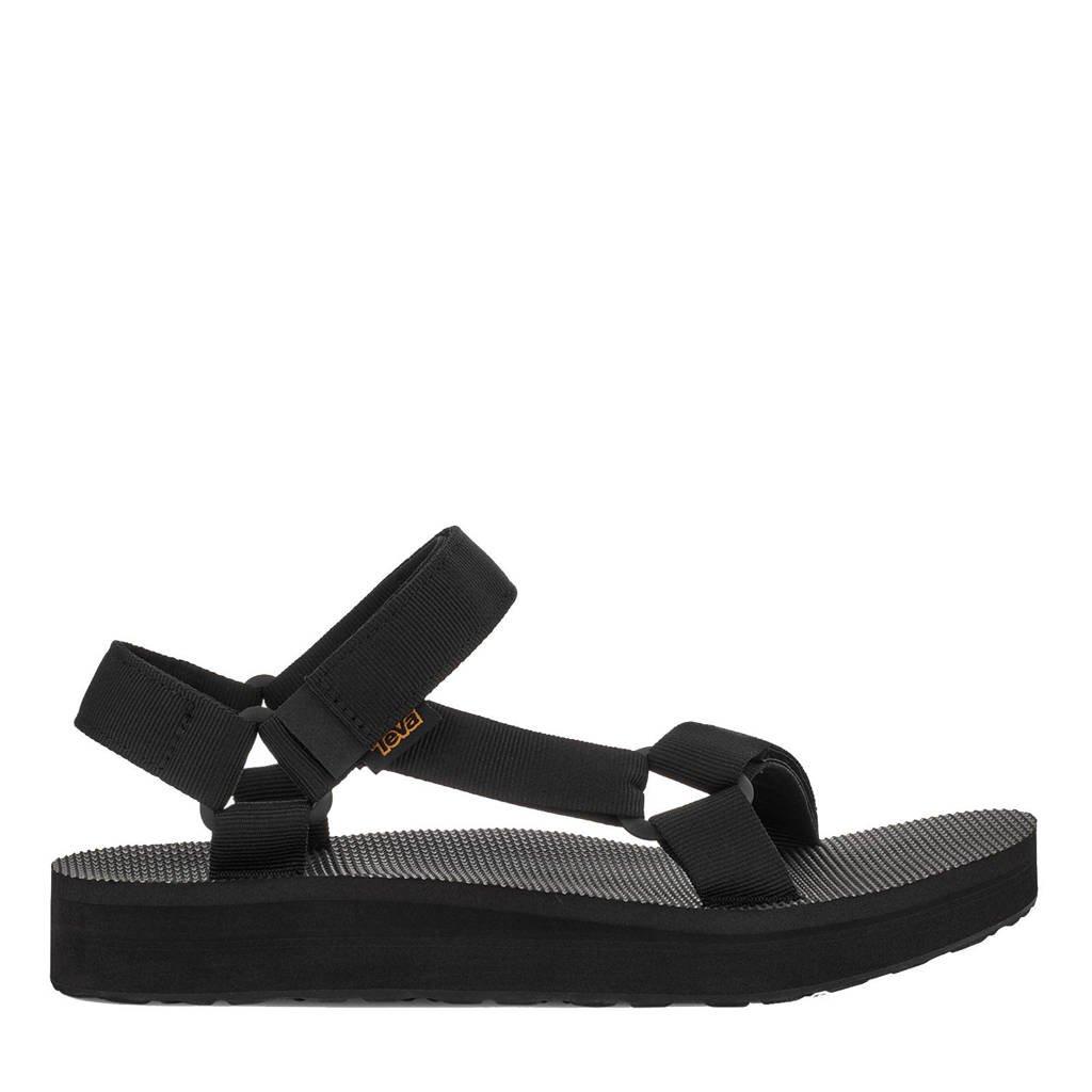 Teva Mid Universal  sandalen zwart, Zwart