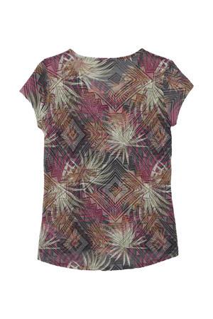 outdoor T-shirt Featherweight roodbruin/multi