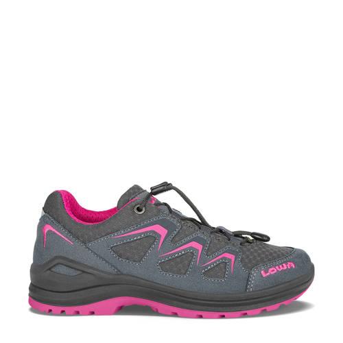 Lowa Innox Evo wandelschoenen antraciet/roze kids