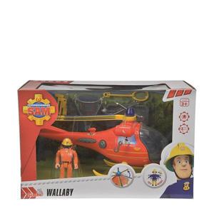 Brandweerman Sam Helicopter Wallaby met figuur