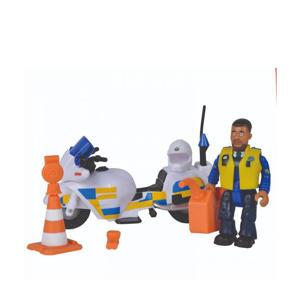 Brandweerman Sam Politiemotor met figuur