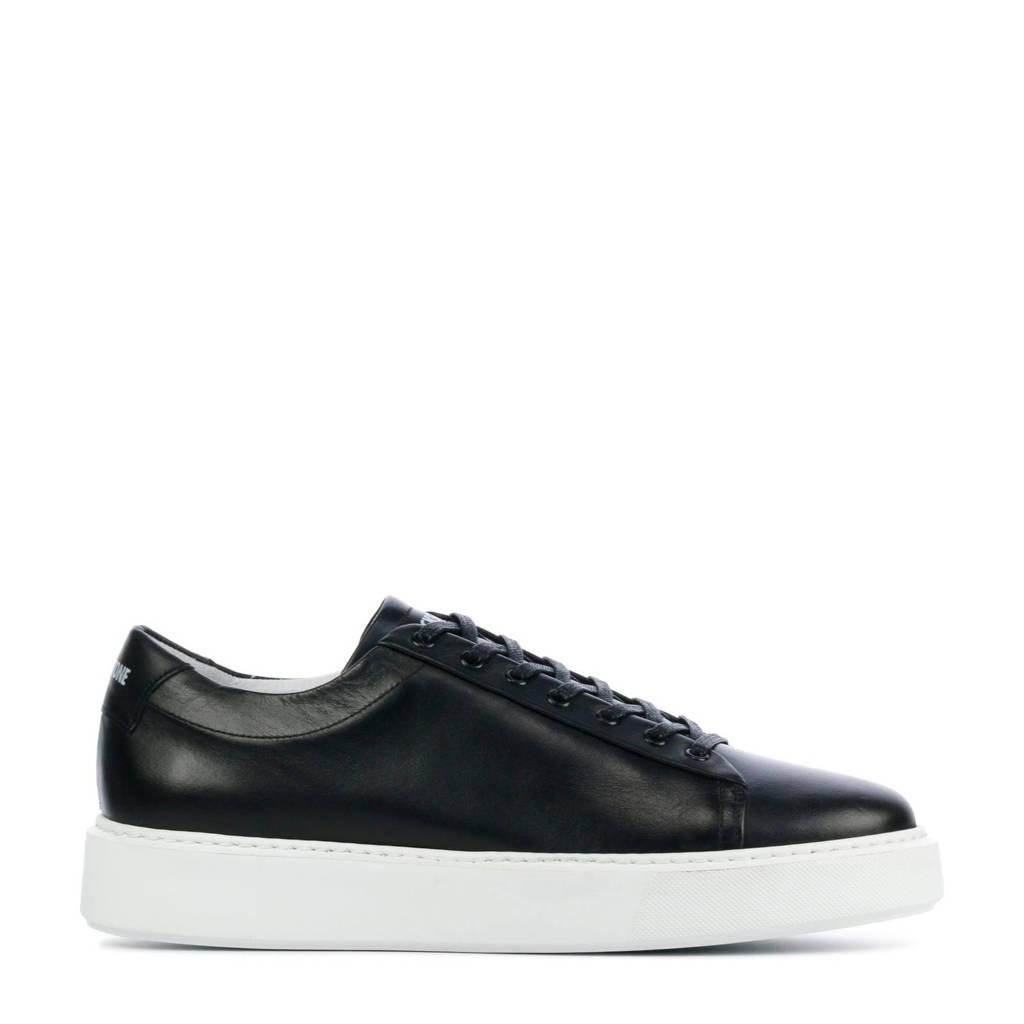 Blackstone VG45  leren sneakers zwart, Zwart