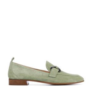 Zanzy  suède loafers groen