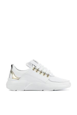 Roque Royal  leren chunky sneakers wit/goud
