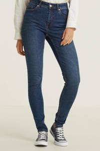 anytime skinny jeans high waist donker blauw, Denim blauw