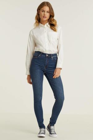high waist skinny jeans donker blauw