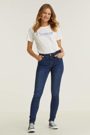 mid rise skinny jeans donker blauw