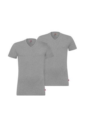 T-shirt (set van 2) grijs