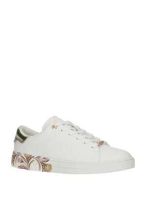Tiriey  leren sneakers wit/goud