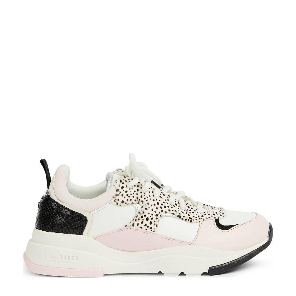Ted Baker Izsla  sneakers wit/roze/zwart, Wit/roze/zwart
