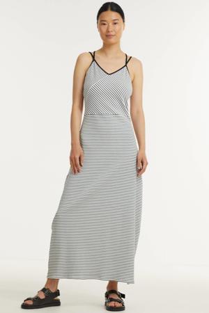 gestreepte maxi jurk SENDA wi/zwart