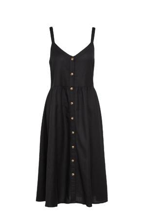 jurk met knopen zwart