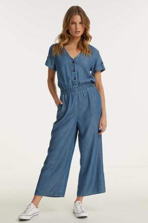 jumpsuit van tencel blauw
