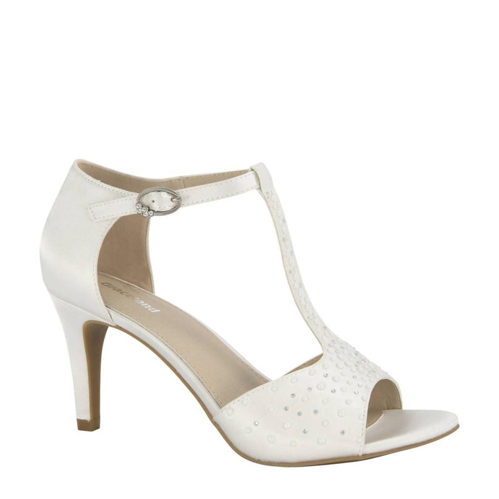 Graceland   sandalettes met strass steentjes wit, Wit/Off white
