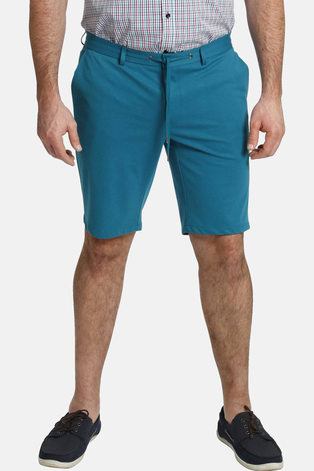 Charles Colby loose fit chino short BARON FERDINAND Plus Size groen, Groen