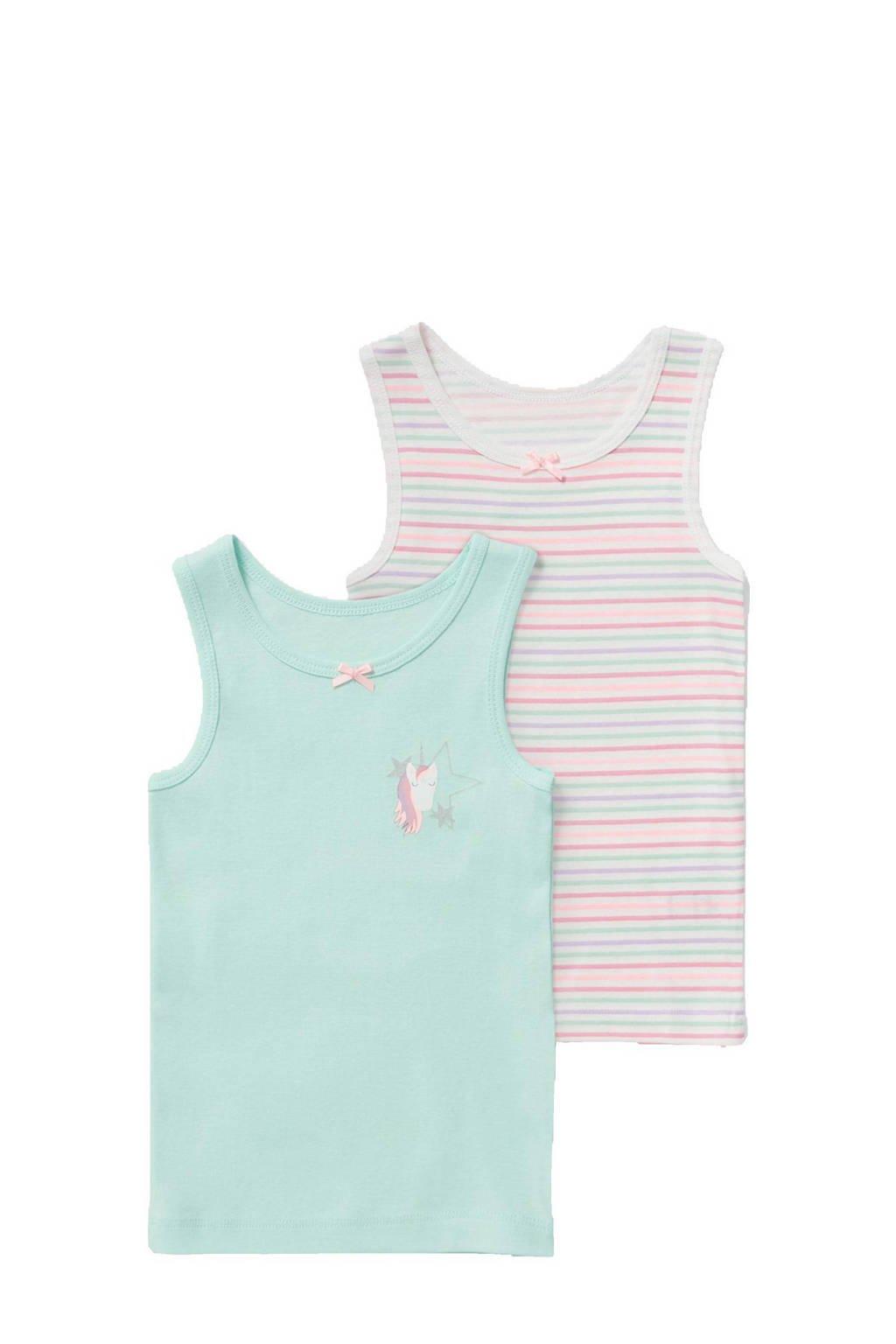 C&A Palomino hemd - set van 2 mintgroen/wit, Mintgroen/wit