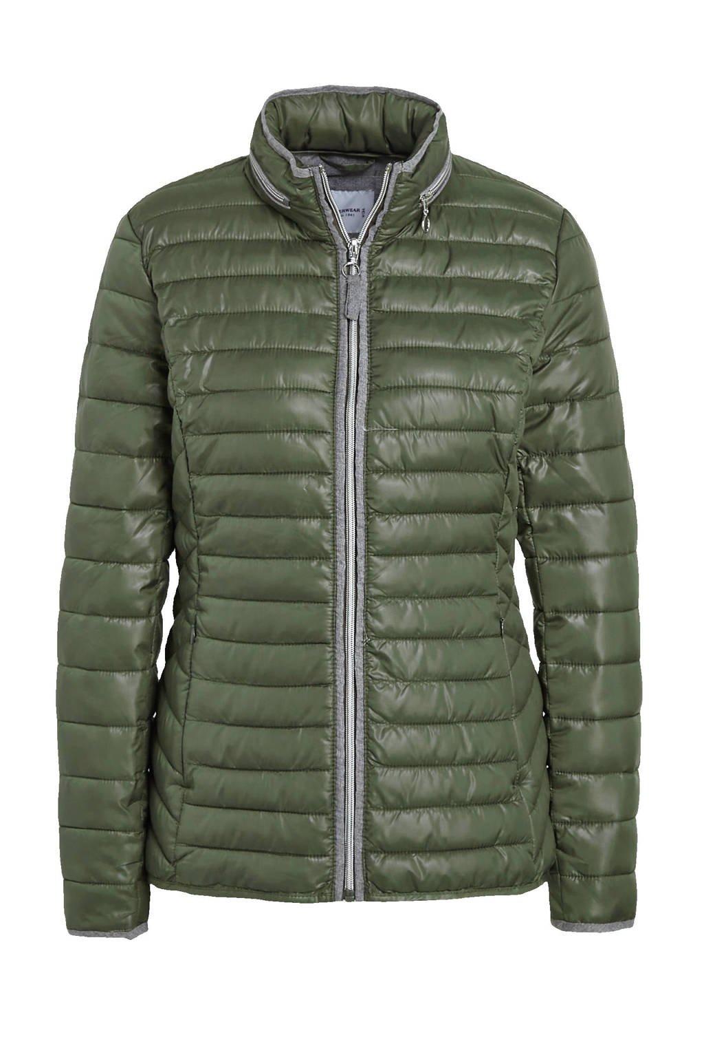 C&A The Outerwear gewatteerde jas donkergroen, Donkergroen