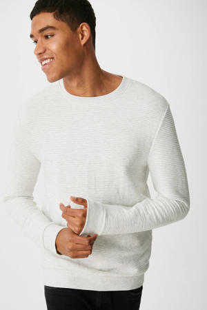 gestreepte sweater ecru