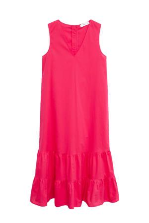 trapeze jurk helderroze