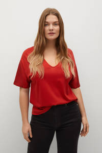 Violeta by Mango basic T-shirt rood, Rood